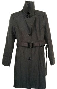 Giacca Wool Buckle Detail Pea Coat