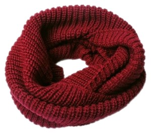 New Burgundy Knit Infinity Scarf