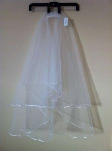 Bridal & Company Ivory Medium Modern Corded Bridal Veil