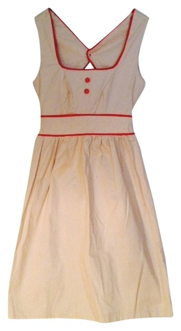 Preload https://item2.tradesy.com/images/beige-red-piping-back-envelope-short-casual-dress-size-00-xxs-1288381-0-0.jpg?width=400&height=650