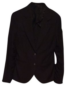 William Rast Ruched Black Blazer