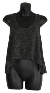 Aritzia Crop Loose Fit Animal Print Zebra T Shirt black