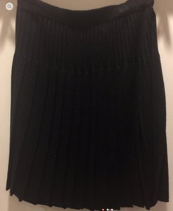 Laura Ashley Wool Pleated Skirt Black