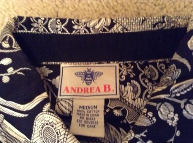 Andrea B Top Black And White Print