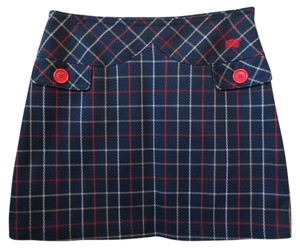 Marc Jacobs Nautical Mini Mini Skirt Blue, Red And White Plaid
