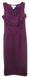 Ann Taylor LOFT short dress Purple Sheath on Tradesy