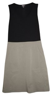 DKNY short dress black/khaki on Tradesy