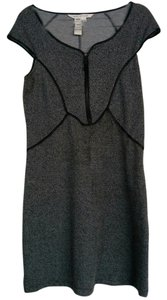 Max Studio Tweed Black Piping Work Office Versatile Dress
