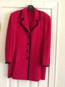 St. John St. John 3 pc. Cranberry Skirt Suit