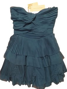 Diane von Furstenberg Ruffle Strapless Mini Dress