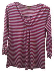 Ella Moss Rayon V-neck 3/4 Sleeve T Shirt striped