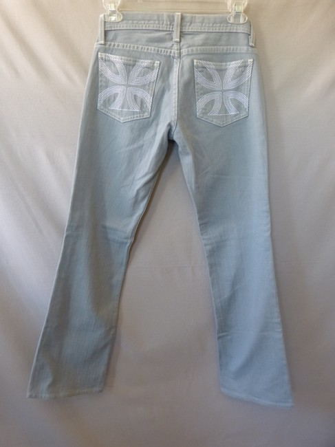Habitual White Cross Straight Leg Jeans-Light Wash