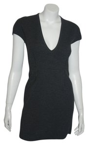 Prada short dress charcoal gray on Tradesy