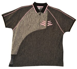 Jamie Sadock Shirt Golf Sports Outdoors Loose Fitting Chic Hip Embroidered T Shirt Black, White, Pink