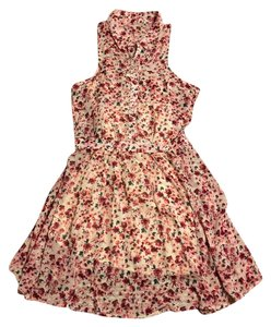 Hollister short dress Floral pink on Tradesy