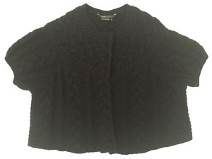 BCBGMAXAZRIA Cable Knit Cardigan Wool Sweater
