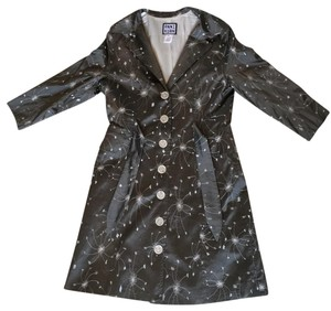 Anni Kuan Embroidered Silver Dress Grey Jacket