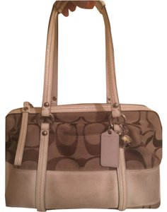 Coach Classic Monogram Satchel in Beige Signature