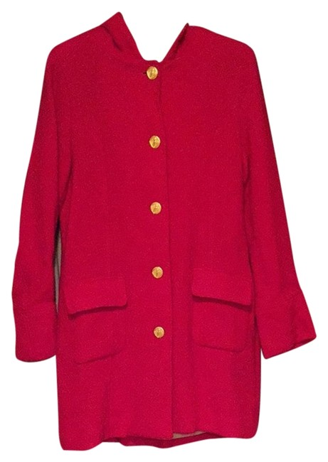 Trovata Hooded St. Francis Coat Red Jacket