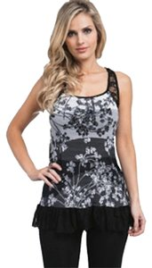 blue sketch Top blk wht
