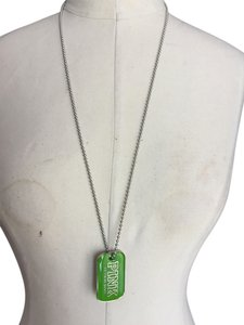 PINK Victoria Secret Dog Tag in green, limited edition sold out