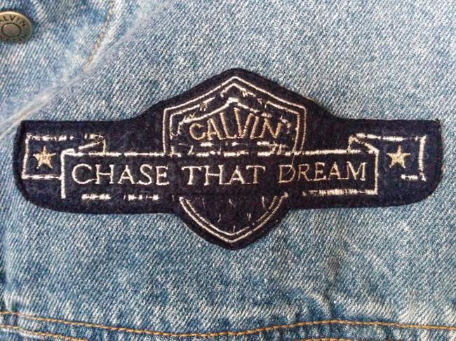 Calvin Klein Lightwash Light-wash Jeans Cropped Patch Detail Vintage Chase That Dream Womens Jean Jacket Image 3