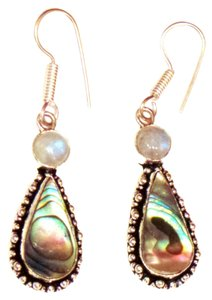 Other ABALONE SHELL and RAINBOW MOONSTONE EARRINGS