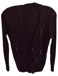 Adrienne Vittadini Top black with sequins