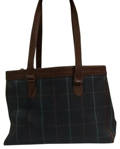 Burberry Tote in Navy Plaid