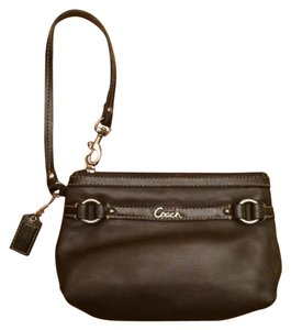 Coach Wristlet in Coffee