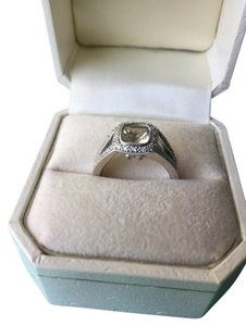 Christian Bernard Christian Bernard 14K White Gold Lemon Citrine & Pave Diamond Ring