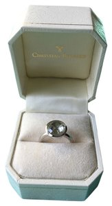 Christian Bernard Christian Bernard 14K White Gold Green Amethyst Ring