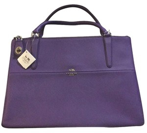 Coach Satchel in Purple Iris
