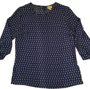 Merona Top Blue, white, yellow