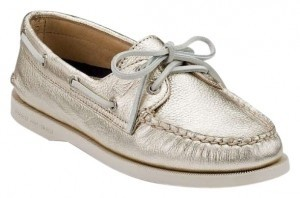 Sperry Metallic Gold Flats