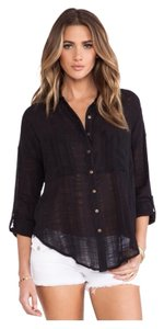 Free People Button Down Shirt Pewter/grey
