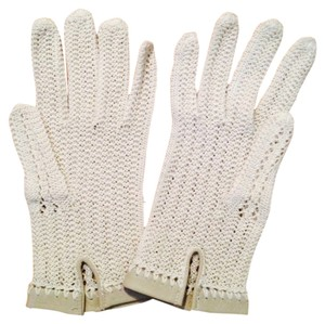 Other Vintage Light Tan Knit Gloves