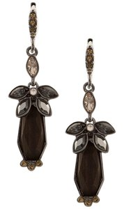 Givenchy Givenchy Hematite Tone Crystal Drop Earrings