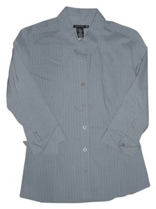 Buffalo David Bitton Button Down Shirt grey with white stripes