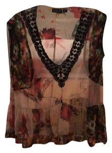 A.B.S. by Allen Schwartz Top Floral and black
