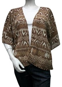 Multiples Over Blouse Brown Jacket