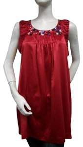 Sunny Leigh Red Beaded Tunic