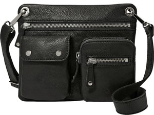 Fossil Leather Pebbled Cross Body Bag