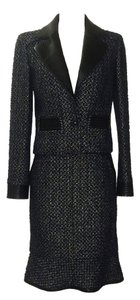Chanel Chanel Navy Metallic Boucle Suit