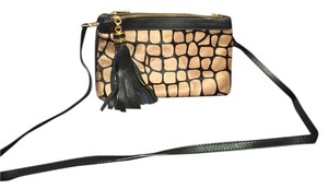 Alberta Di Canio Leather Hide Cross Body Bag