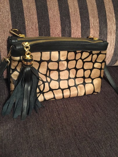 Alberta Di Canio Leather Hide Cross Body Bag Image 1