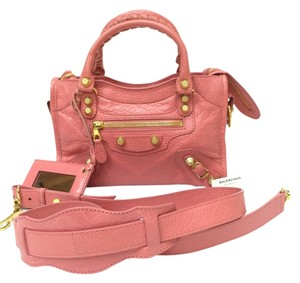 Balenciaga Pink Leather Arena Satchel