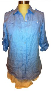 Liz Claiborne Button Down Shirt Chambray