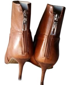 Marc Fisher Dress Booties Tan Leather Boots