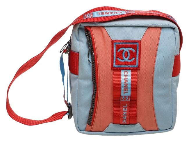 Item - Sport Line Handbag Blue/Red Canvas Messenger Bag